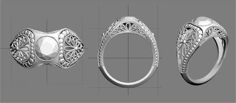 CAD Custom  Engagement Rings