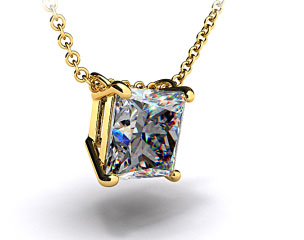 18K Yellow Gold 0.25ct Diamond Pendant