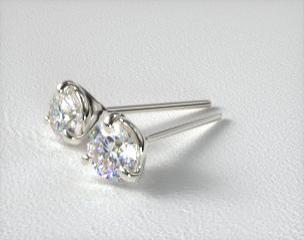 18k White Gold Three Prong Martini Style Settings