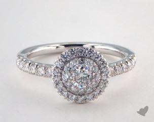 Platinum Royal Halo Single Pave Halo Engagement Ring