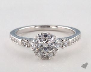 Platinum Royal Halo Channel Set Engagement Ring