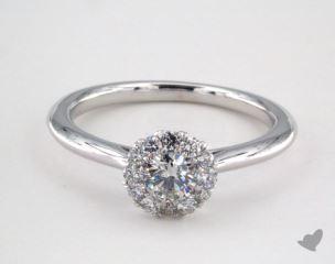 Platinum Royal Halo Petite Classic Engagement Ring