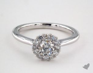Platinum Royal Halo Classic  Engagement Ring