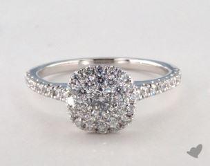 Platinum Royal Halo Classic Cushion Shape Engagement Ring